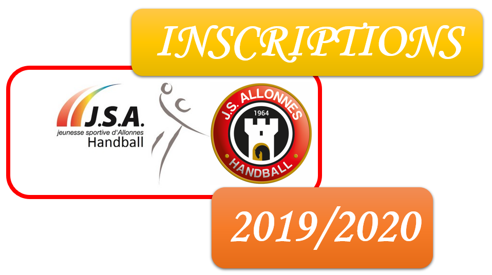 INSCRIPTIONS 2019/2020